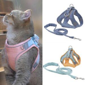 Pet Cat Dog Harness Leash Vest Mesh Reflective Adjustable 1.5M Traction Rope
