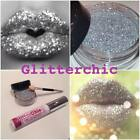 Purpurina para labios PLATA Pintalabios Suelto por glitterchic, Extra Glamour,