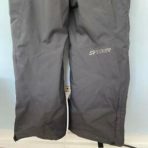 SPYDER Thinsulate XTL Mens Gray Ski Snow Bibs Overall Suspender Pants Size XL��