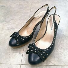 ANNE KLEIN Slingback Leather Heels Size 5 UK / 7 US