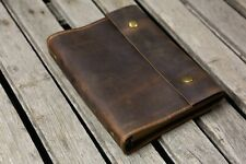 Personalized A5 Leather Journal refillable binder travel notebook portfolio