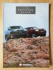 VAUXHALL FRONTERA orig 1991-92 UK Mkt sales brochure