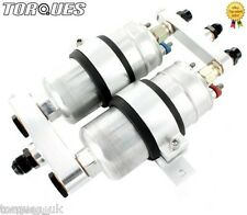 Twin bosch 044 pompe à essence en aluminium billet l'Assemblée AN-6, AN-8 ou an-10 - Argent