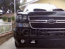 2003-2014 Chevy Silverado White Halo Fog Lamp Driving Light Angel Eye Kit