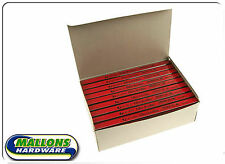 1 box (72) Rexel Blackedge Carpenters Pencils Medium Grade Red 34322