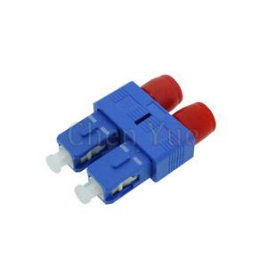 Duplex SC Male to FC Female Hybrid Fiber Optic Adapter Hybrid Connector SC-FC SM