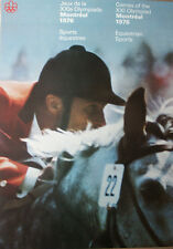 Montreal 1976 Olympic RARE LARGE EQUESTRIAN Poster Original Official Vintage