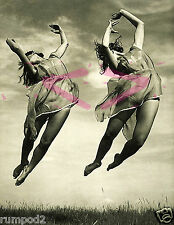 Vintage/Art Deco/Nouveau/Poster/Print//Girls Jumping/Happy/Exciting 17x22 in