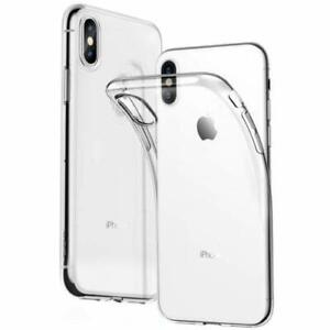 CLEAR Case For iPhone X Cover Shockproof 360 Silicone Gel Protective TOUGH New