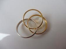 schöner,alter Ring__Trible-Ring__3 Silberringe als Einer__RGK 925__Gold-Silber_!