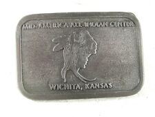 1979 Mid America All Indian Center Belt Buckle By HIT LINE U.S.A. 31916