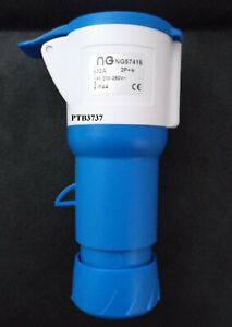 32A 3Pin Blue IP44 Industrial  Connector Straight Trailing Socket Please read!!