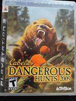 Cabela's Dangerous Hunts 2009 No Manual (Sony PlayStation 3 PS3, 2008) (CB215)