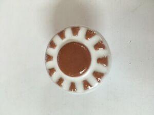 Pomello pomolo ceramica mobili armadi cassetti bianco terra ø 37 mm maniglia