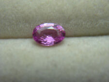 rare Fancy Pink Sapphire UNHEATED Gem Madagascar FLUORESCENT Natural oval ps45