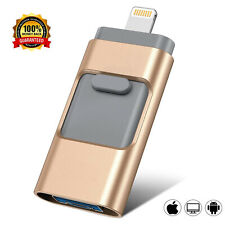 New OTG Memory Photo Stick For iPhone 6 7 8 X iPad Flash Drive 64/128/256/512GB