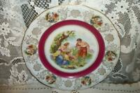 ANTIQUE CHIC SHABBY ROMANTIC CHERUB CABINET PLATE GERMANY HOLLYWOOD REGENCY