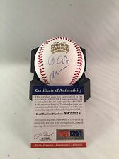 JOHN CUSACK CHICAGO CUBS SIGNED 2016 WORLD SERIES BASEBALL W/ GO CUBS PSA/DNA