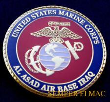 US MARINES MCAS AL ASAD IRAQ CHALLENGE COIN MAW HMLA HMM HMH MALS MEU MWHS MWSG