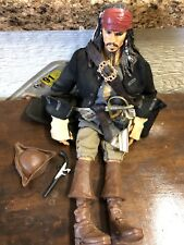 """Disney 15"""" Jack Sparrow Pirates of the Caribbean Collectible With Gun & Hat"""