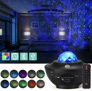 USB Galaxy Star Night Lamp LED Starry Sky Projector Light Ocean Wave, BLUETOOTH
