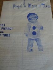 T10 PATRON POUPEE JEAN MICHEL  MODES & TRAVAUX COSTUME DE PIERROT FEVRIER  1976