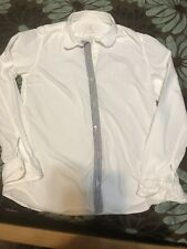Gap Fitted Boyfriend White Button Down Oxford Shirt Blouse Women's Small