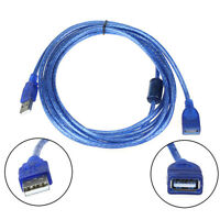 Best-chioce Blue 3M/9.8FT USB 2.0 Male to Female Extend Extention Cable NEW