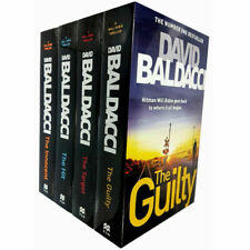 David Baldacci Will Robie Series 4 Books Collection Set The Target Hit Innocent