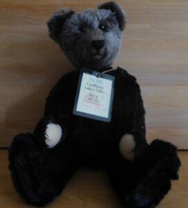 BEAR PAWS COLLECTABLES NOIR TEDDY BEAR LIMITED EDITION 6/12