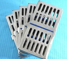 NEW 5 DENTAL AUTOCLAVE STERILIZATION CASSETTE RACK BOX TRAY FOR 7 INSTRUMENTS