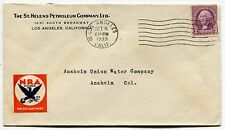 "1933 Mailing Envelope: ""ST. HELENS PETROLEUM COMPANY"" [Los Angeles]"