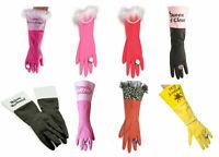 Washing Up Rubber Gloves Girls Pearls Novelty Retro Fun Xmas Gift Secret Santa