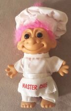 """RUSS 4"""" MASTER CHEF TROLL Vintage Baker Cook Retro Doll Hat White Outfit Vtg"""