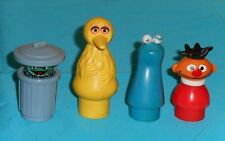 Fisher-Price Little People SESAME STREET LOT Big Bird Cookie Monster Ernie Oscar