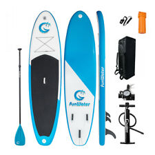 "FunWater 11'× 32"" × 6"" Thick Inflatable Stand-Up Paddle Board w/Accessories"