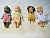 Disney Tollytots Baby Mini Princess Doll Lot ~ Tiana Belle Aurora Cinderella