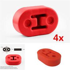 4x Universal Car Truck Motorbike Muffler Exhaust Hangers Red Polyurethane 11.5mm