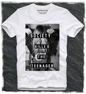 T SHIRT SOCIETY KILLED THE TEENAGER SEXY MODEL KATE MOSS MEGAN FOX