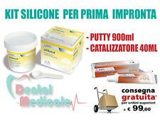 SILICONE PUTTY KIT PER PRIMA IMPRONTA 900ml+CATALYST 40ml, DENTAL IMPRESSION