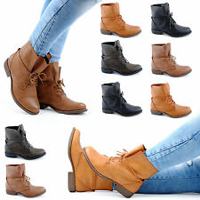Neu Damen Schnür Stiefeletten Boots Kunstleder Stiefel 1380 Schuhe Gr. 36-41