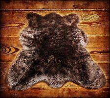 Brown Country Bear Skin Rug, Sheepskin Area Rug, Shag Rug, Faux Fur,Handmade USA