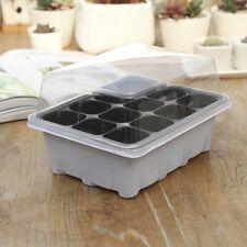 12 Cells Hole Plant Seeds Grow Box Propagation Cloning Case 1 Set Black