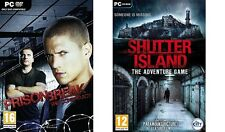 prison break the conspiracy & shutter island the adventure game  new&sealed