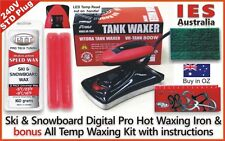 Ski & Snowboard Digital Hot Waxing wax Iron+Red Uni Temp wax Kit, DIY & save $