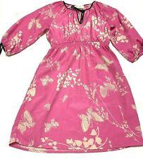 Yumi Kim Dress Butterfly Floral Print Size XS Pockets Pink