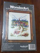 Wonderart Counted Cross Stitch Surrey Ride Country Scene 8x10 New Sealed 5401