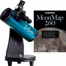 Orion 10033 76mm Table Top Reflector Telescope Blue with Moon Kit