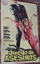 Used - Cartel de Cine  JUEGO DE ASESINOS  Vintage Movie Film Poster - Usado