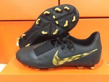 New Nike Junior Phantom Venom Elite Fg Cleats Black/Vivid Gold Size: 4 Youth